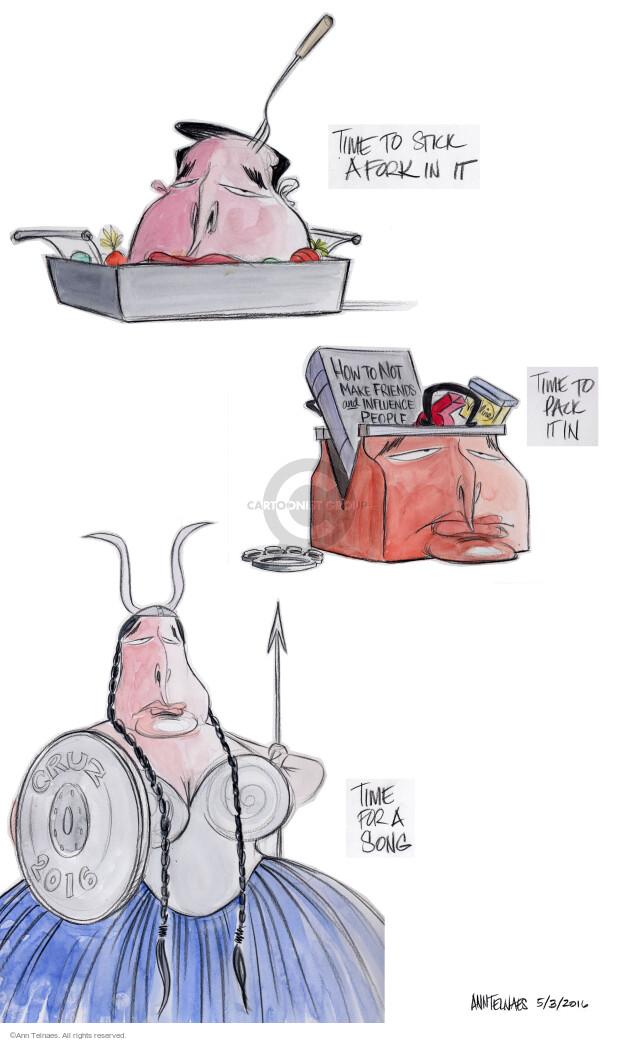 Ann Telnaes  Ann Telnaes' Editorial Cartoons 2016-05-04 2016 Election Ted Cruz