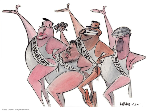 Ann Telnaes  Ann Telnaes' Editorial Cartoons 2016-05-11 2016 Election Chris Christie