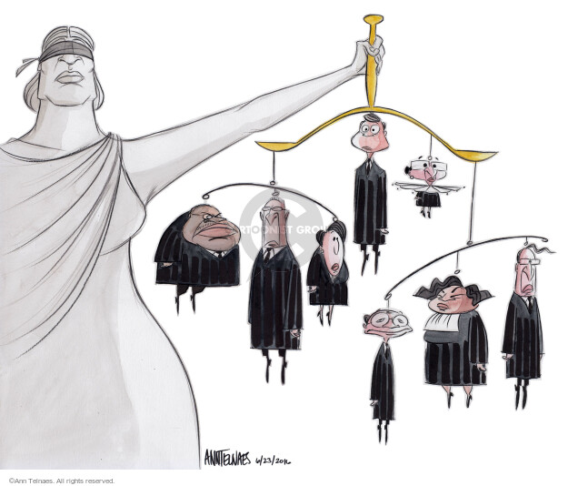 Cartoonist Ann Telnaes  Ann Telnaes' Editorial Cartoons 2016-06-23 Lady Justice