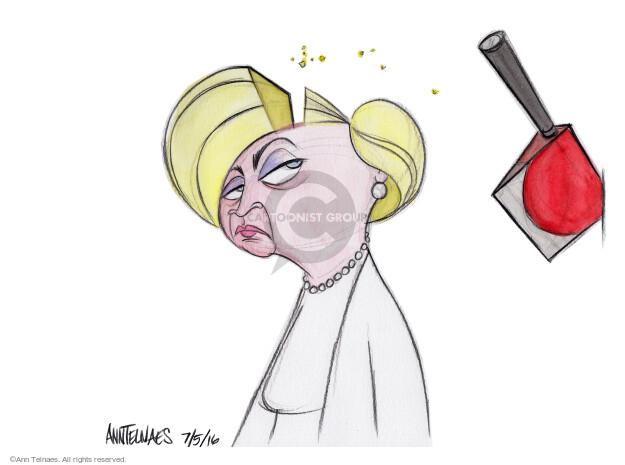 Cartoonist Ann Telnaes  Ann Telnaes' Editorial Cartoons 2016-07-05 presumptive