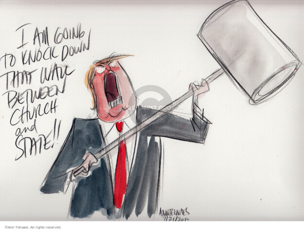 Ann Telnaes  Ann Telnaes' Editorial Cartoons 2016-07-22 church state