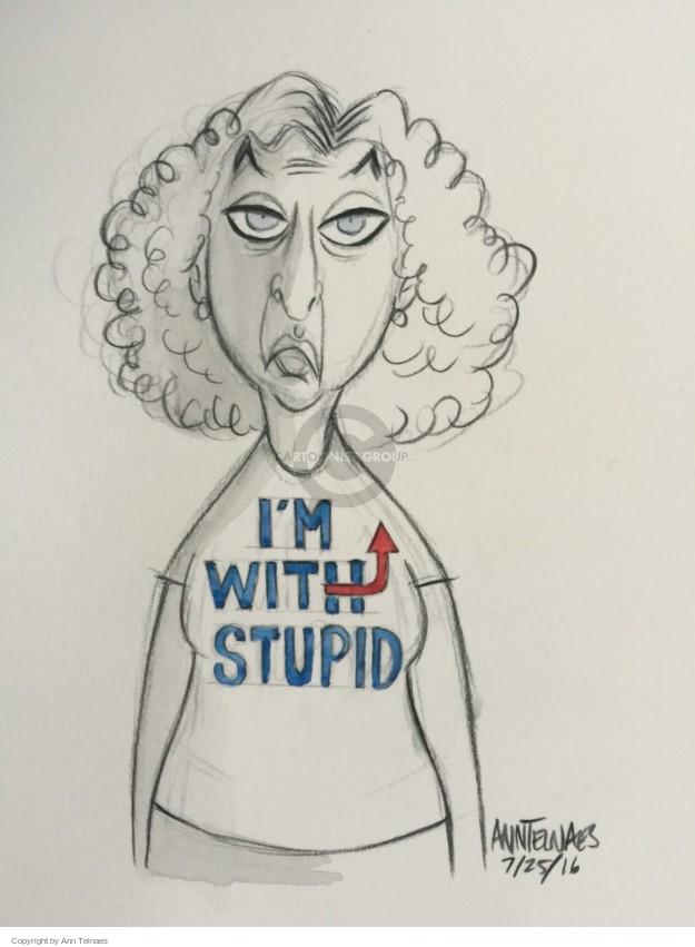 Cartoonist Ann Telnaes  Ann Telnaes' Editorial Cartoons 2016-07-25 Democratic National Committee