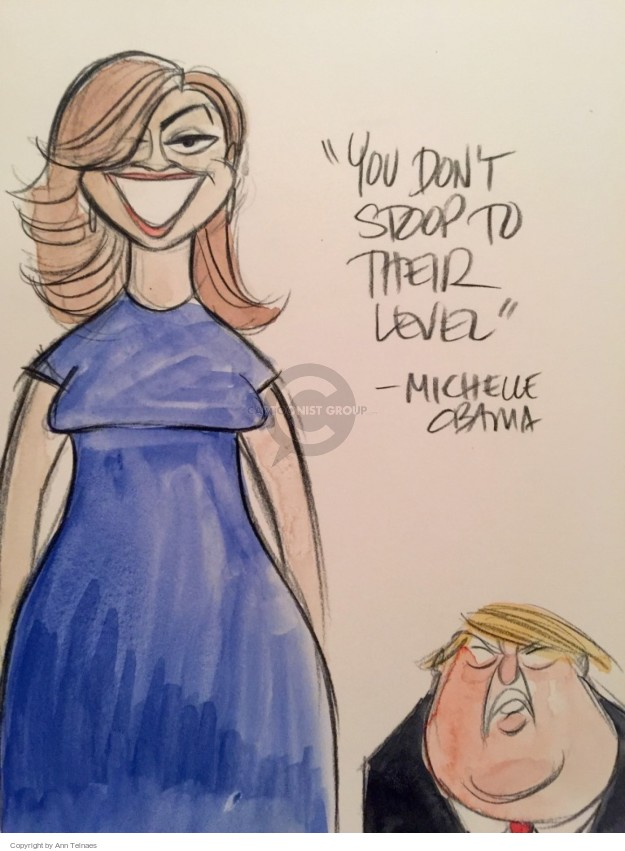 Cartoonist Ann Telnaes  Ann Telnaes' Editorial Cartoons 2016-07-26 Michelle Obama