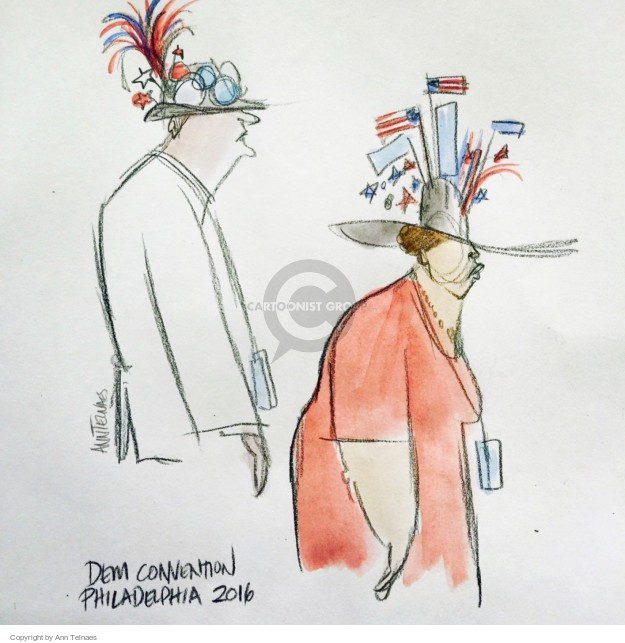 Ann Telnaes  Ann Telnaes' Editorial Cartoons 2016-07-29 2016 political convention
