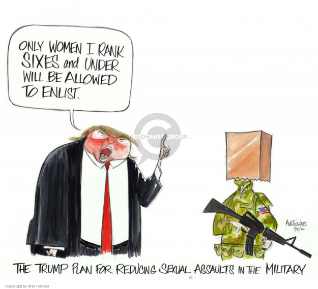 Cartoonist Ann Telnaes  Ann Telnaes' Editorial Cartoons 2016-09-09 military plan