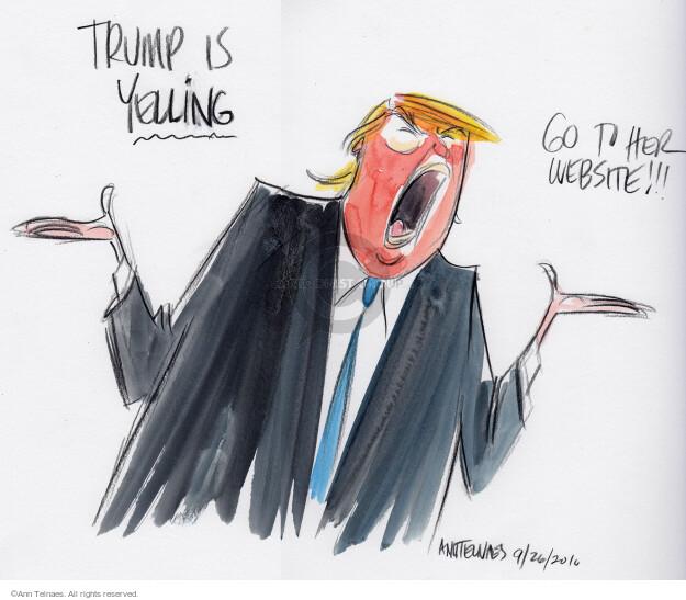 Ann Telnaes  Ann Telnaes' Editorial Cartoons 2016-09-27 2016 Election Hillary Clinton