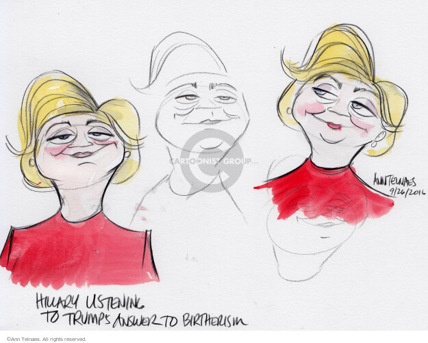 Ann Telnaes  Ann Telnaes' Editorial Cartoons 2016-09-27 Secretary of State