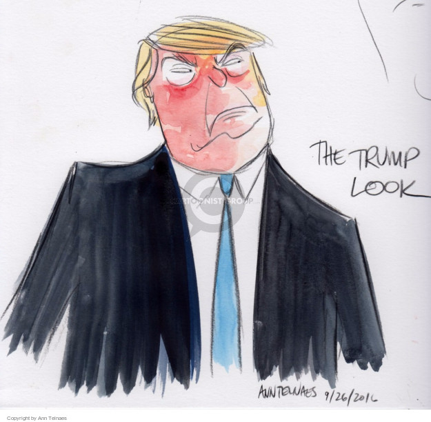 Cartoonist Ann Telnaes  Ann Telnaes' Editorial Cartoons 2016-09-27 political debate