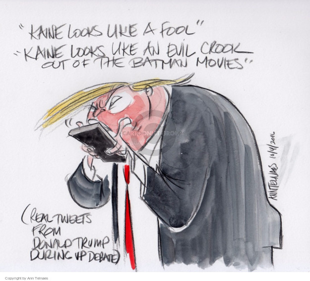 Ann Telnaes  Ann Telnaes' Editorial Cartoons 2016-10-04 vice-presidential debate