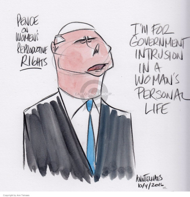 Ann Telnaes  Ann Telnaes' Editorial Cartoons 2016-10-04 choice