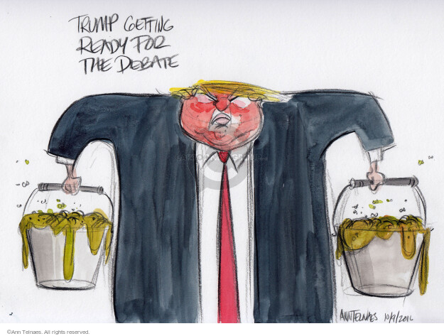 Cartoonist Ann Telnaes  Ann Telnaes' Editorial Cartoons 2016-10-09 sketch