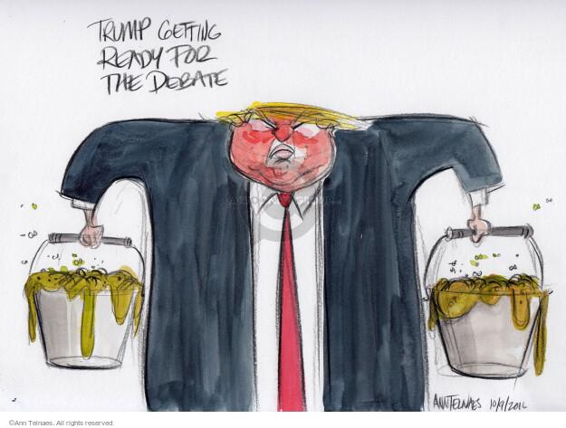 Cartoonist Ann Telnaes  Ann Telnaes' Editorial Cartoons 2016-10-09 debate