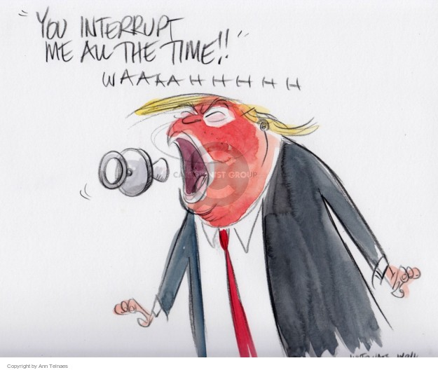 Ann Telnaes  Ann Telnaes' Editorial Cartoons 2016-10-09 2016 election debate