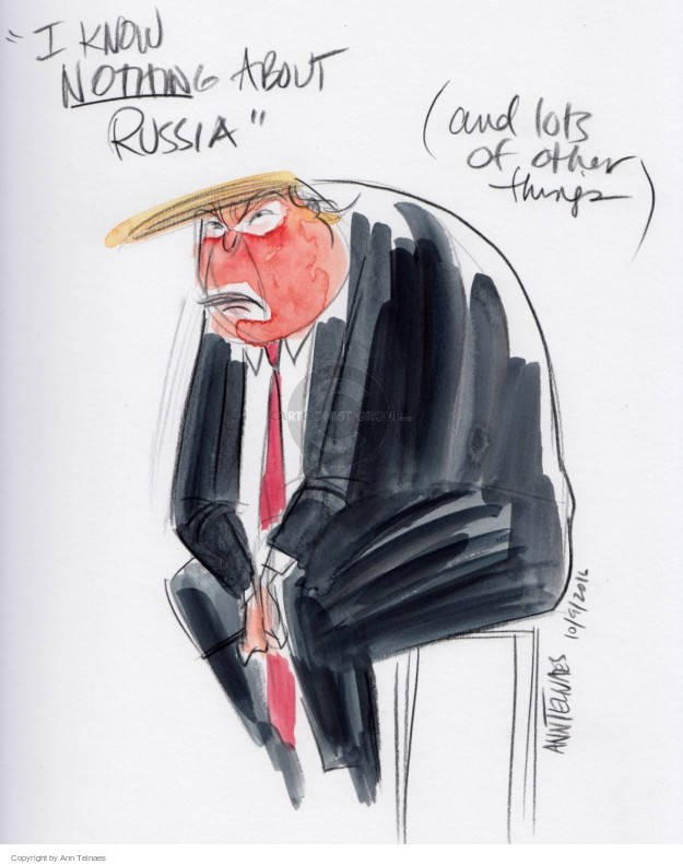 Ann Telnaes  Ann Telnaes' Editorial Cartoons 2016-10-09 know