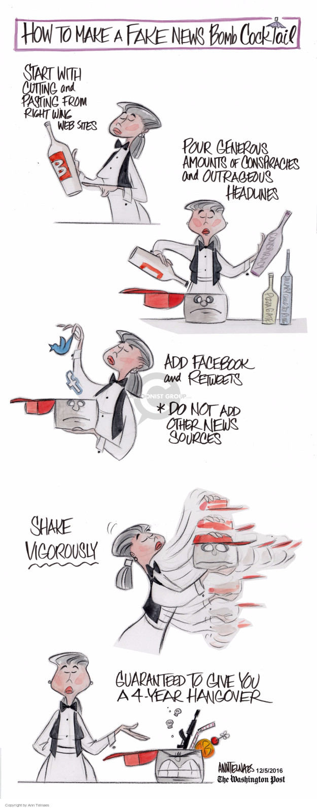 Ann Telnaes  Ann Telnaes' Editorial Cartoons 2016-12-05 network news