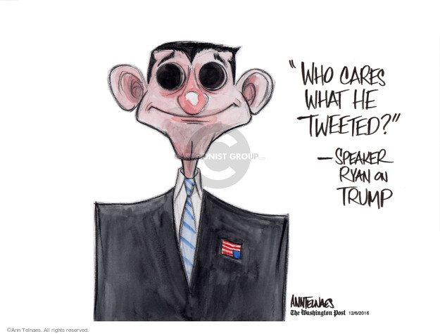 Ann Telnaes  Ann Telnaes' Editorial Cartoons 2016-12-06 president-elect