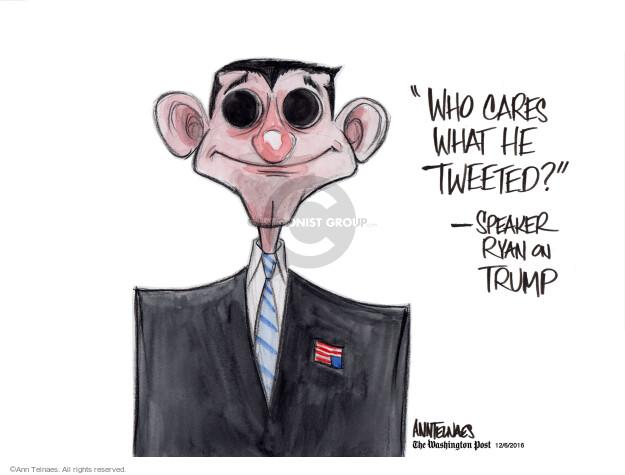 Ann Telnaes  Ann Telnaes' Editorial Cartoons 2016-12-06 social media