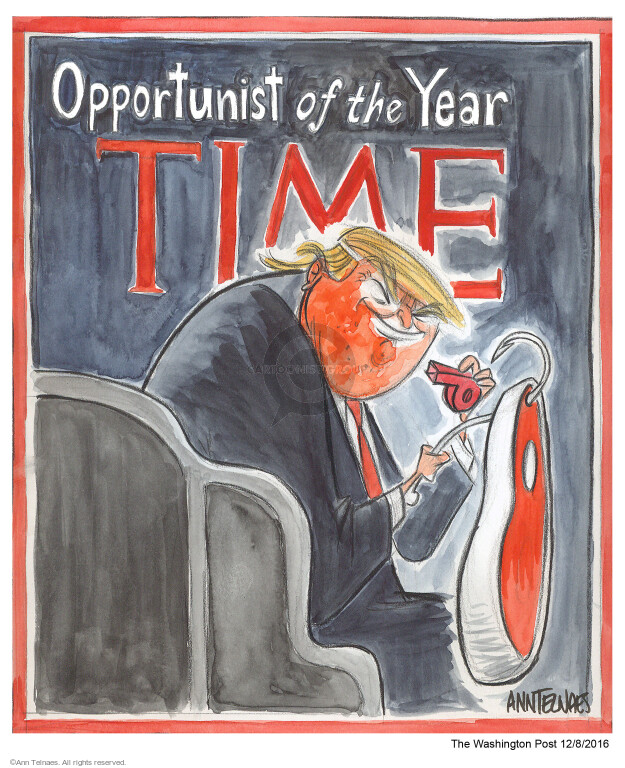 Cartoonist Ann Telnaes  Ann Telnaes' Editorial Cartoons 2016-12-08 cover