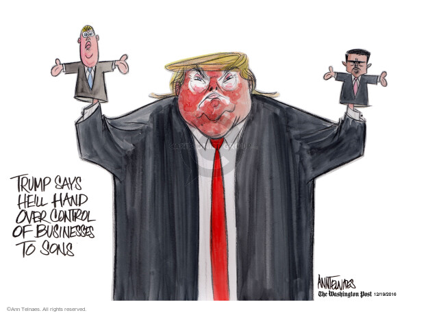Ann Telnaes  Ann Telnaes' Editorial Cartoons 2016-12-19 conflict of interest