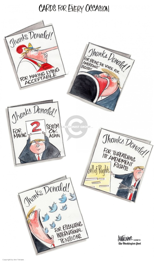 Ann Telnaes  Ann Telnaes' Editorial Cartoons 2016-12-28 president-elect