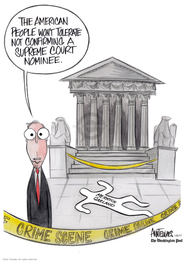 Ann Telnaes  Ann Telnaes' Editorial Cartoons 2017-01-05 supreme court nominee