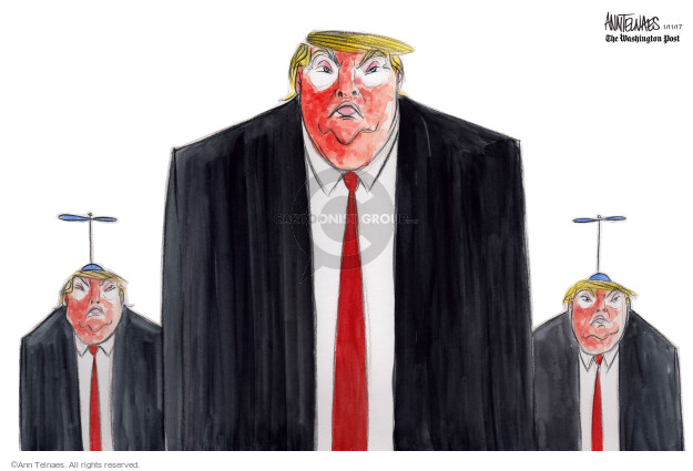 Ann Telnaes  Ann Telnaes' Editorial Cartoons 2017-01-11 president-elect
