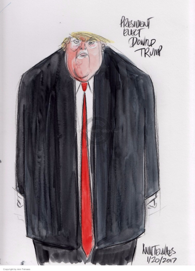 Ann Telnaes  Ann Telnaes' Editorial Cartoons 2017-01-20 caricature