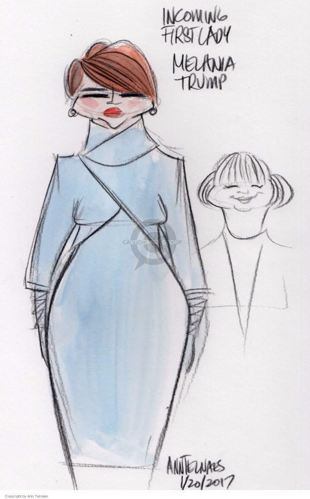 Ann Telnaes  Ann Telnaes' Editorial Cartoons 2017-01-20 Melania Trump