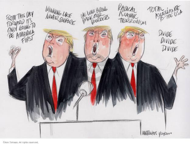 Cartoonist Ann Telnaes  Ann Telnaes' Editorial Cartoons 2017-01-20 presidential administration