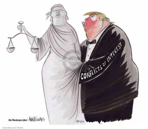 Ann Telnaes  Ann Telnaes' Editorial Cartoons 2017-01-21 business