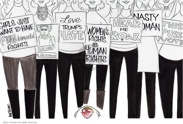 Ann Telnaes  Ann Telnaes' Editorial Cartoons 2017-01-23 nasty