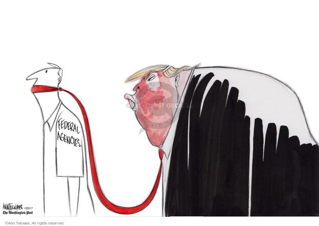 Cartoonist Ann Telnaes  Ann Telnaes' Editorial Cartoons 2017-01-25 presidential administration