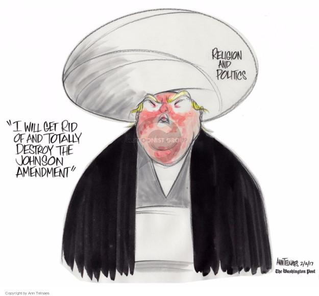 Ann Telnaes  Ann Telnaes' Editorial Cartoons 2017-02-02 amendment