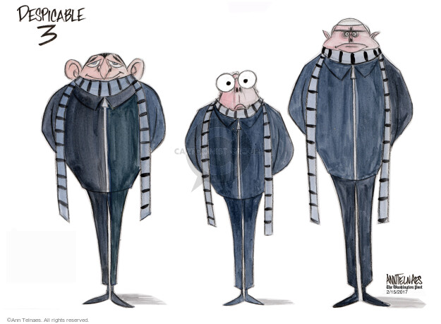 Ann Telnaes  Ann Telnaes' Editorial Cartoons 2017-02-15 Mitch McConnell