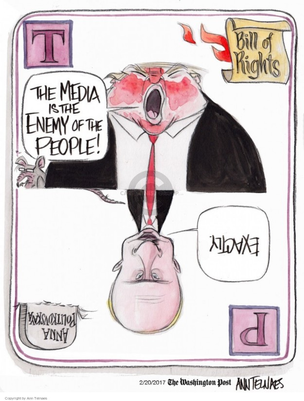 Cartoonist Ann Telnaes  Ann Telnaes' Editorial Cartoons 2017-02-20 United States and Russia