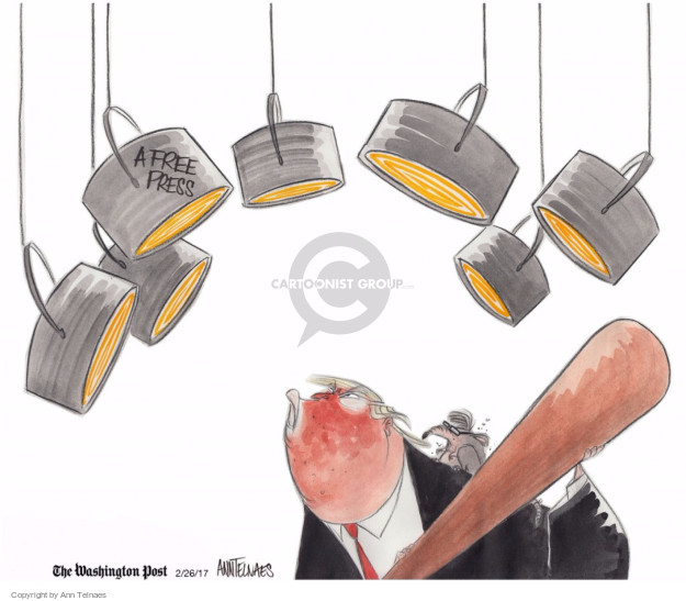 Ann Telnaes  Ann Telnaes' Editorial Cartoons 2017-02-26 freedom of the press