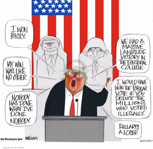 Cartoonist Ann Telnaes  Ann Telnaes' Editorial Cartoons 2017-02-27 address