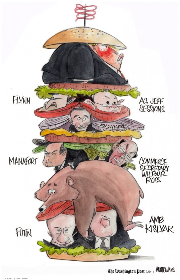Cartoonist Ann Telnaes  Ann Telnaes' Editorial Cartoons 2017-03-06 United States and Russia