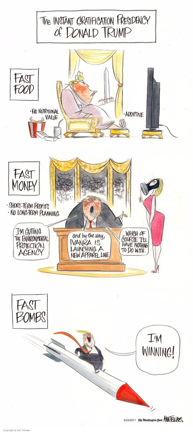 Ann Telnaes  Ann Telnaes' Editorial Cartoons 2017-04-24 presidential