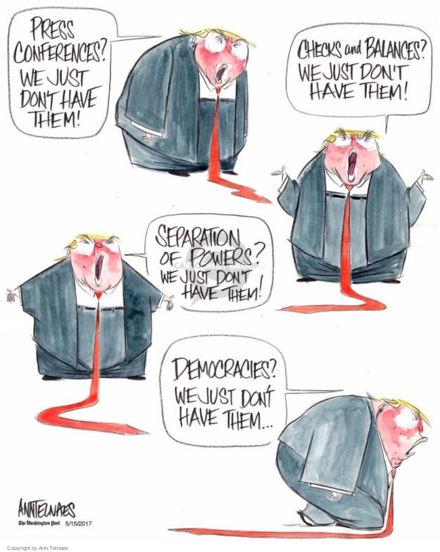 Ann Telnaes  Ann Telnaes' Editorial Cartoons 2017-05-15 presidential authority