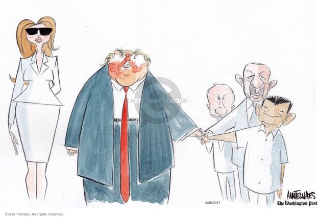 Cartoonist Ann Telnaes  Ann Telnaes' Editorial Cartoons 2017-05-25 Vladimir
