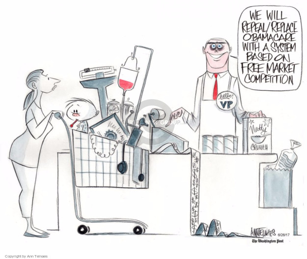 Ann Telnaes  Ann Telnaes' Editorial Cartoons 2017-06-26 health care
