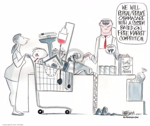 Cartoonist Ann Telnaes  Ann Telnaes' Editorial Cartoons 2017-06-26 vice president