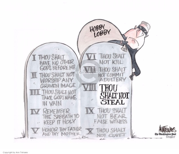 Ann Telnaes  Ann Telnaes' Editorial Cartoons 2017-07-07 God