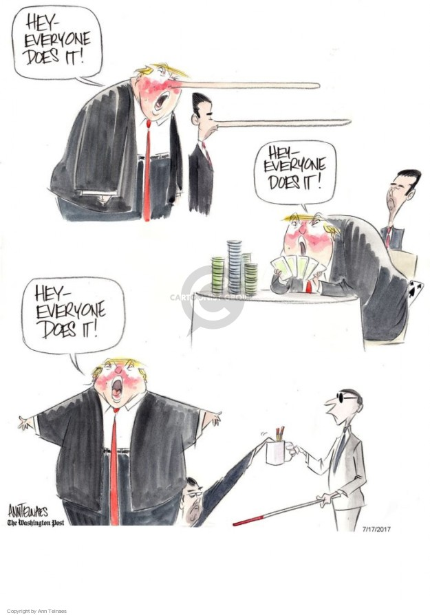 Cartoonist Ann Telnaes  Ann Telnaes' Editorial Cartoons 2017-07-17 political credibility