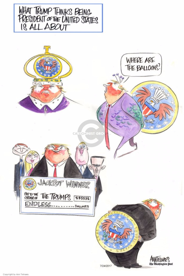 Ann Telnaes  Ann Telnaes' Editorial Cartoons 2017-07-24 business