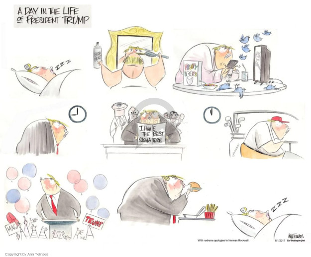 Cartoonist Ann Telnaes  Ann Telnaes' Editorial Cartoons 2017-08-01 president