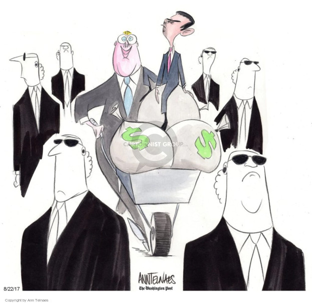 Cartoonist Ann Telnaes  Ann Telnaes' Editorial Cartoons 2017-08-22 security