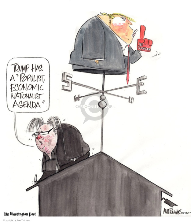 Ann Telnaes  Ann Telnaes' Editorial Cartoons 2017-09-11 Donald Trump Steve Bannon