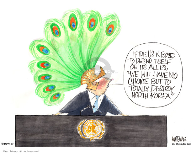 Ann Telnaes  Ann Telnaes' Editorial Cartoons 2017-09-19 nuclear